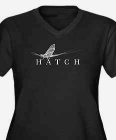HatchFilm Women's Plus Size V-Neck Dark T-Shirt
