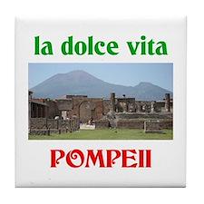 la dolce vita Pompeii Tile Coaster