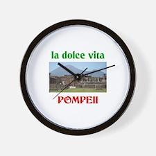 la dolce vita Pompeii Wall Clock