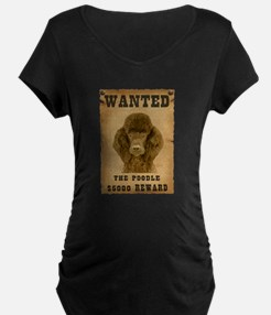 """""""Wanted"""" Poodle T-Shirt"""