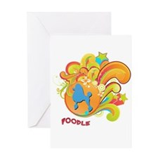 Groovy Poodle Greeting Card