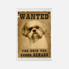 """Wanted""Shih Tzu Rectangle Magnet"