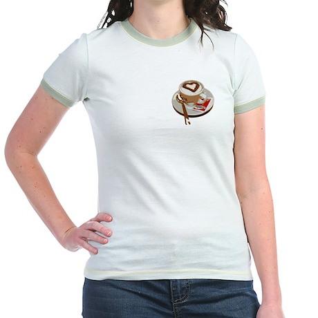 """""""Cafe in Rome"""" Jr. Ringer T-Shirt"""