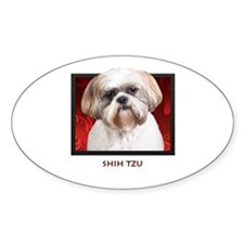 Shih Tzu Oval Decal
