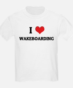 I Love Wakeboarding Kids T-Shirt