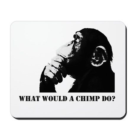 What would a chimp do? Mousepad