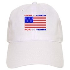 Patriotic 90th Birthday Baseball Cap