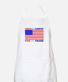 Patriotic 90th Birthday BBQ Apron