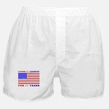 Patriotic 90th Birthday Boxer Shorts