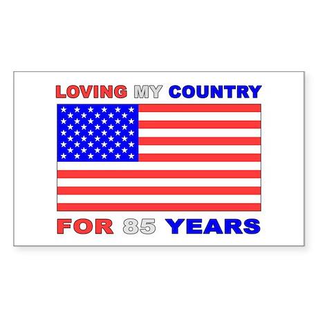 Patriotic 85th Birthday Rectangle Sticker