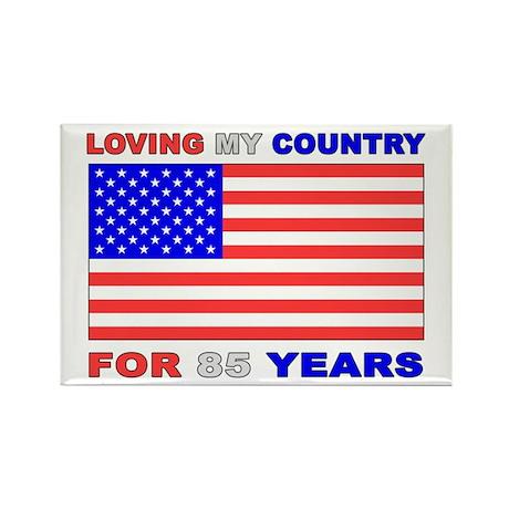 Patriotic 85th Birthday Rectangle Magnet