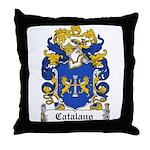 Catalano Family Crest Throw Pillow
