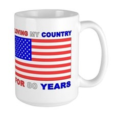 Patriotic 80th Birthday Mug