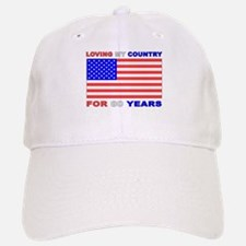 Patriotic 80th Birthday Baseball Baseball Cap