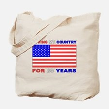 Patriotic 80th Birthday Tote Bag