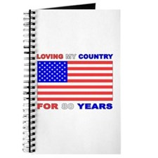 Patriotic 80th Birthday Journal