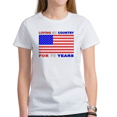 Patriotic 70th Birthday Tee