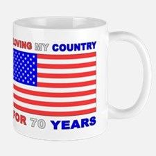 Patriotic 70th Birthday Mug