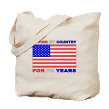 Patriotic 70th Birthday Tote Bag