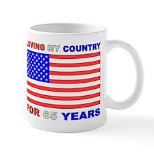 Patriotic 65th Birthday Small Mugs