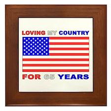 Patriotic 65th Birthday Framed Tile