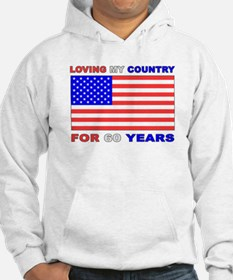 Patriotic 60th Birthday Hoodie