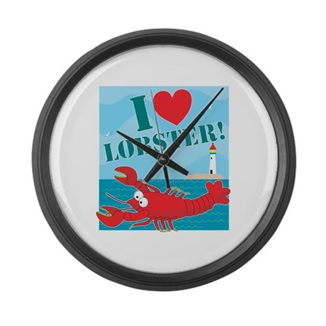 I Love Lobster Large Wall Clock