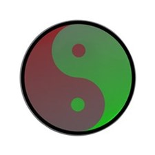 "Yin-Yang Color 3.5"" Button"