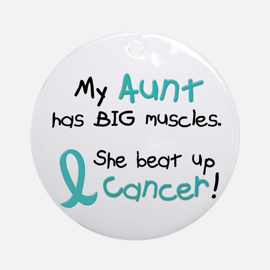 Big Muscles 1.1 TEAL (Aunt) Ornament (Round)