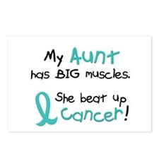 Big Muscles 1.1 TEAL (Aunt) Postcards (Package of