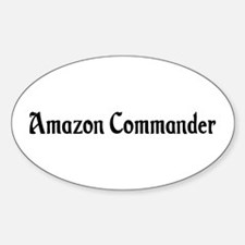 Amazon Commander Oval Decal