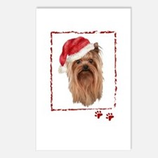 Christmas Yorkshire Terrier Postcards (Package of
