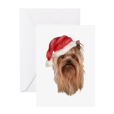 Christmas Yorkshire Terrier Greeting Card
