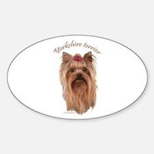 Yorkshire Terrier, breed name. Oval Decal