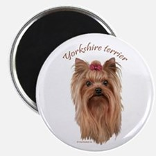 Yorkshire Terrier, breed name. Magnet