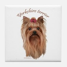 Yorkshire Terrier, breed name. Tile Coaster