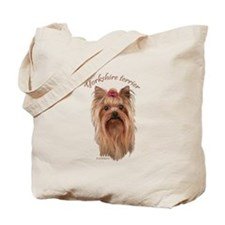 Yorkshire Terrier, breed name. Tote Bag