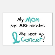 Big Muscles 1.1 TEAL (Mom) Postcards (Package of 8
