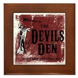 The devils den Framed Tiles