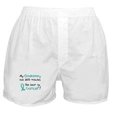 Big Muscles 1.1 TEAL (Godmommy) Boxer Shorts