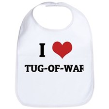 I Love Tug-of-war Bib