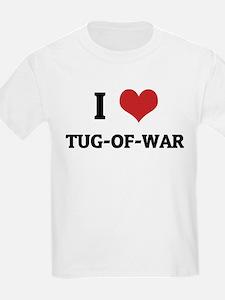 I Love Tug-of-war Kids T-Shirt