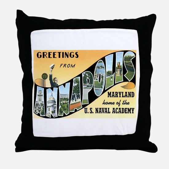 Annapolis Maryland MD Throw Pillow