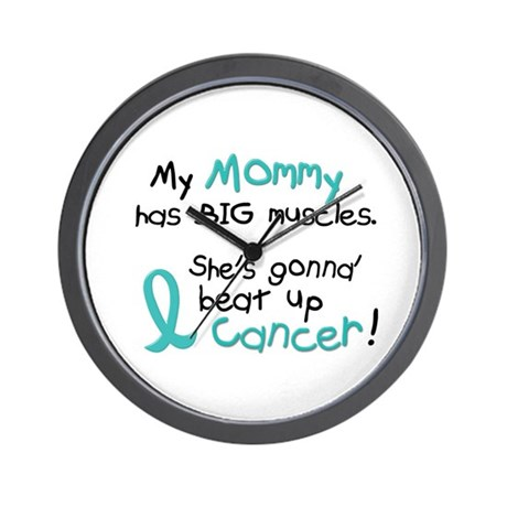 Big Muscles 1.2 TEAL (Mommy) Wall Clock