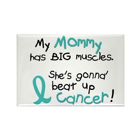 Big Muscles 1.2 TEAL (Mommy) Rectangle Magnet (100