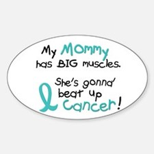 Big Muscles 1.2 TEAL (Mommy) Oval Decal