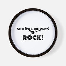 School Nurses ROCK Wall Clock