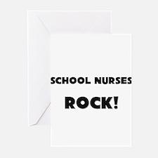 School Nurses ROCK Greeting Cards (Pk of 10)