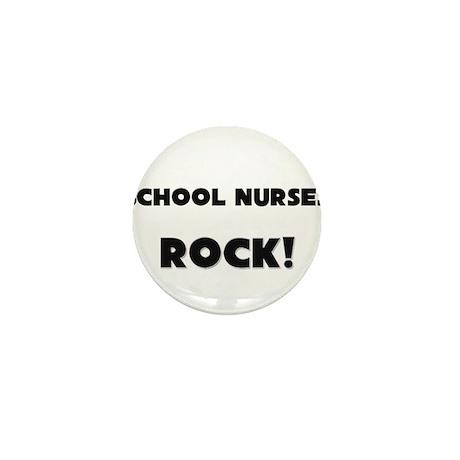 School Nurses ROCK Mini Button