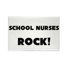 School Nurses ROCK Rectangle Magnet